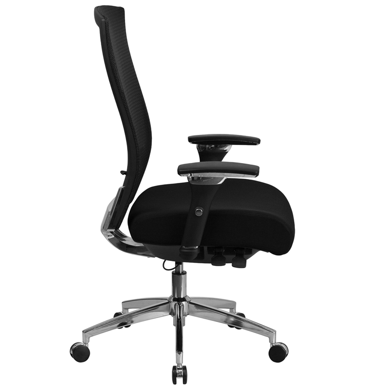 Ergonomic Home Tough Enough Series 24 7 Multi Shift 300 Lb Capacity High Back Black Mesh Functional Executive Swivel Chair With Seat Slider