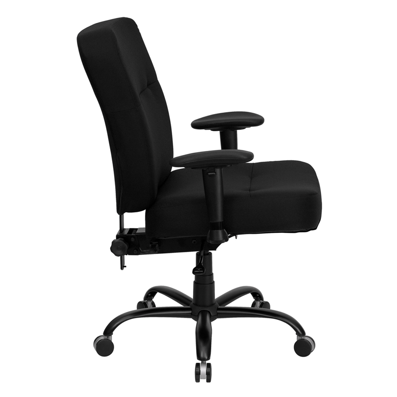 Capacity Tall Black Fabric Executive Swivel Office Chair With Extra Wide Seat And Height Adjule Arms Eh Wl 735syg Bk A Gg 50 Off