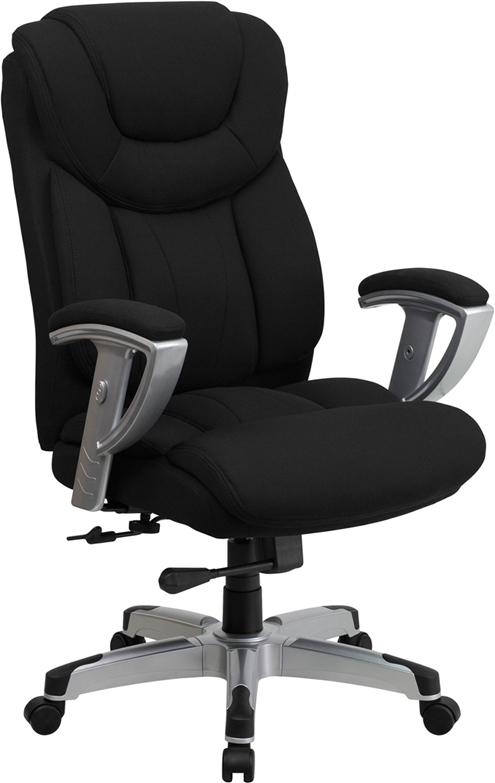 HERCULES Series 400 lb. Capacity Big & Tall Black Fabric Executive Swivel Office Chair with Height & Width Adjustable Arms