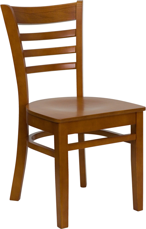 ERGONOMIC HOME TOUGH ENOUGH Series Cherry Finished Ladder Back Wooden Restaurant Chair <b><font color=green>50% Off Read More Below...</font></b>