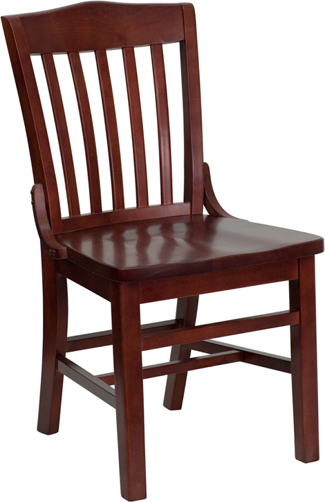 ERGONOMIC HOME TOUGH ENOUGH Series Mahogany Finished School House Back Wooden Restaurant Chair <b><font color=green>50% Off Read More Below...</font></b>