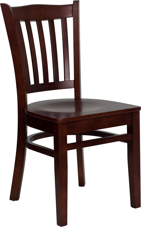 ERGONOMIC HOME TOUGH ENOUGH Series Mahogany Finished Vertical Slat Back Wooden Restaurant Chair <b><font color=green>50% Off Read More Below...</font></b>