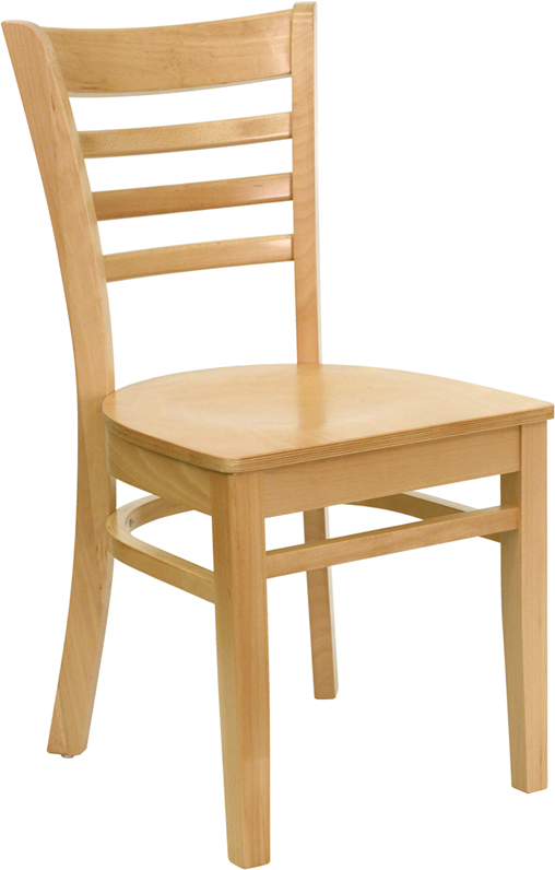 ERGONOMIC HOME TOUGH ENOUGH Series Natural Wood Finished Ladder Back Wooden Restaurant Chair <b><font color=green>50% Off Read More Below...</font></b>