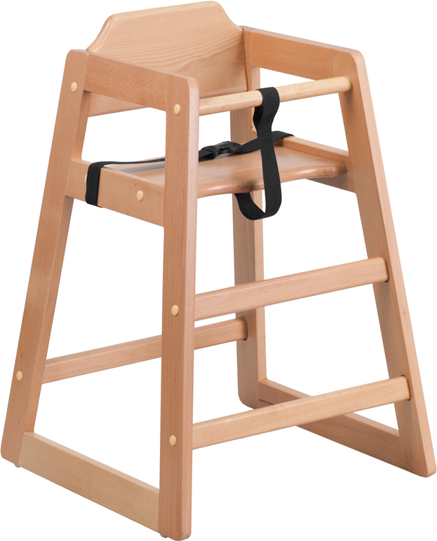 ERGONOMIC HOME TOUGH ENOUGH Series Stackable Natural Baby High Chair <b><font color=green>50% Off Read More Below...</font></b>