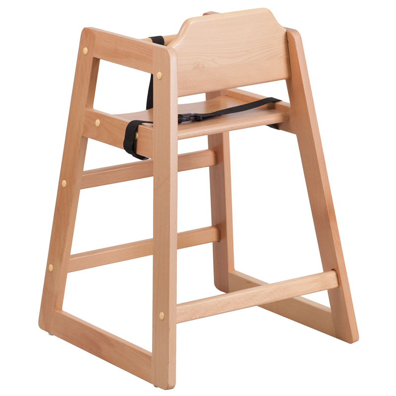 ergonomic home tough enough series stackable natural baby high chair