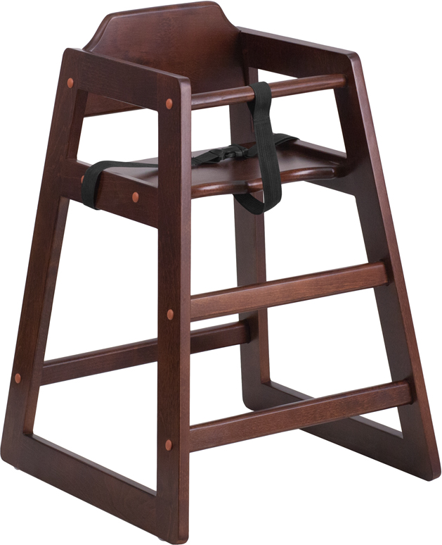 ERGONOMIC HOME TOUGH ENOUGH Series Stackable Walnut Baby High Chair <b><font color=green>50% Off Read More Below...</font></b>