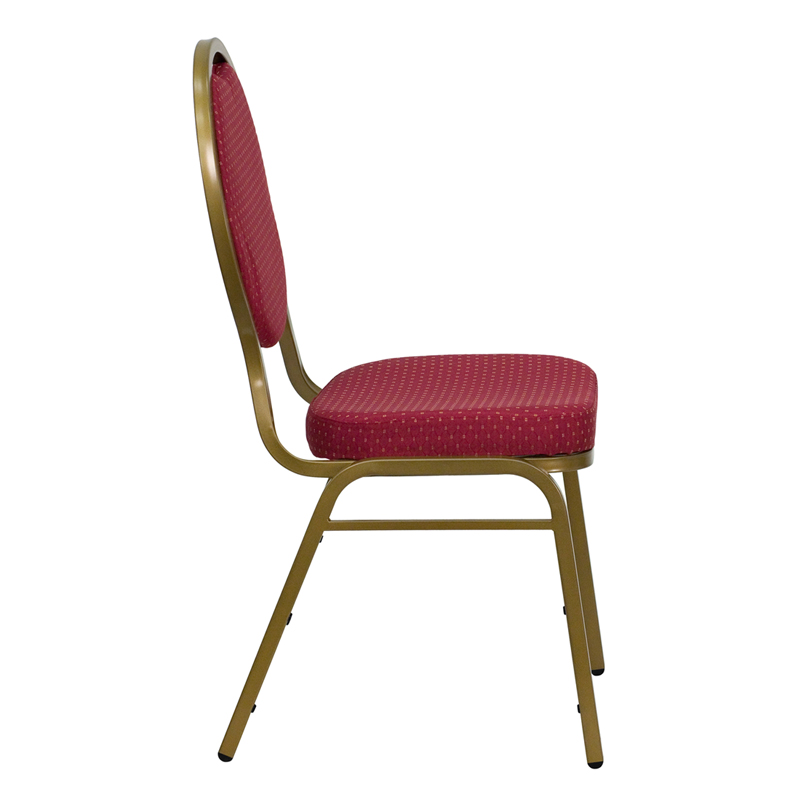 Ergonomic Home TOUGH ENOUGH Series Teardrop Back Stacking Banquet Chair with Burgundy Patterned Fabric and 2.5u0027u0027 Thick Seat - Gold Frame ...  sc 1 st  Ergonomic Home & TOUGH ENOUGH Series Teardrop Back Stacking Banquet Chair with ...