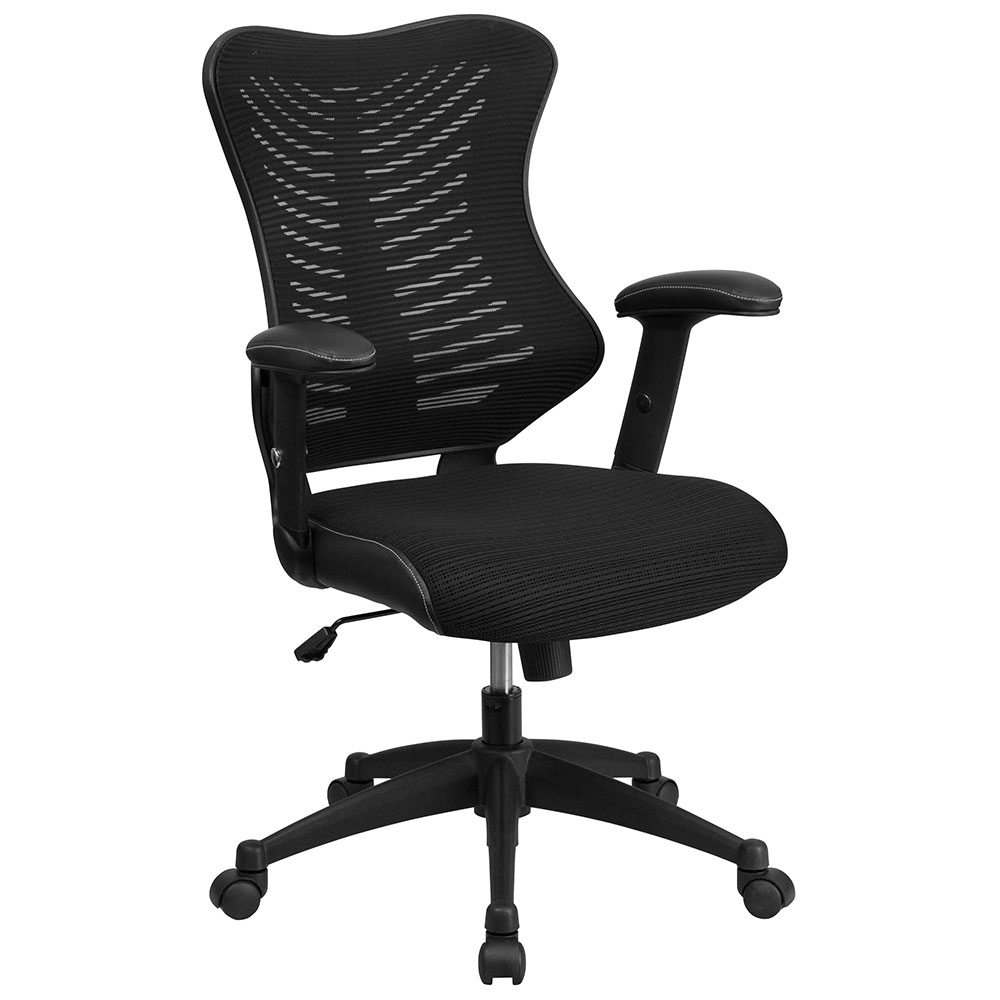 ERGONOMIC HOME High Back Black Designer Mesh Executive Swivel Office Chair with Mesh Padded Seat  EH-BL-ZP-806-BK-GG <b><font color=green>50% Off Read More Below...</font></b>