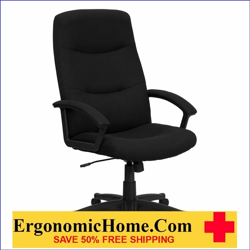 Ergonomic Home High Back Black Fabric Executive Swivel Office Chair EH-GO-5301B-BK-GG <b><font color=green>50% Off Read More Below...</font></b></font></b>