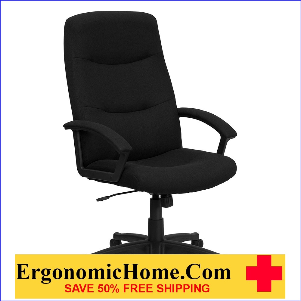 Ergonomic Home High Back Black Fabric Executive Swivel Office Chair EH-GO-5301B-BK-GG <b><font color=green>50% Off Read More Below...</font></b>