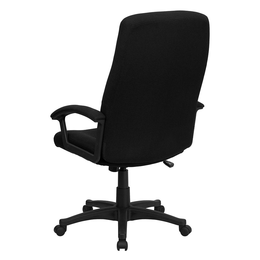 ergonomic home high back black fabric executive swivel