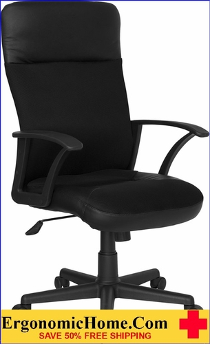 Ergonomic Home High Back Black Leather and Mesh Executive Swivel Office Chair <b><font color=green>50% Off Read More Below...</font></b></font></b>