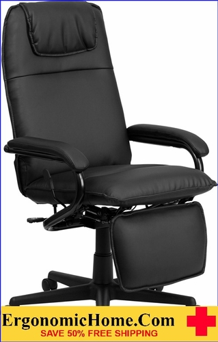 Ergonomic Home High Back Black Leather Executive Reclining Swivel Office Chair <b><font color=green>50% Off Read More Below...</font></b>