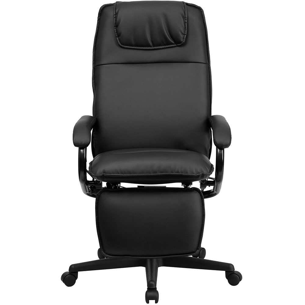 ergonomic home high back black leather executive reclining swivel office chair. Black Bedroom Furniture Sets. Home Design Ideas