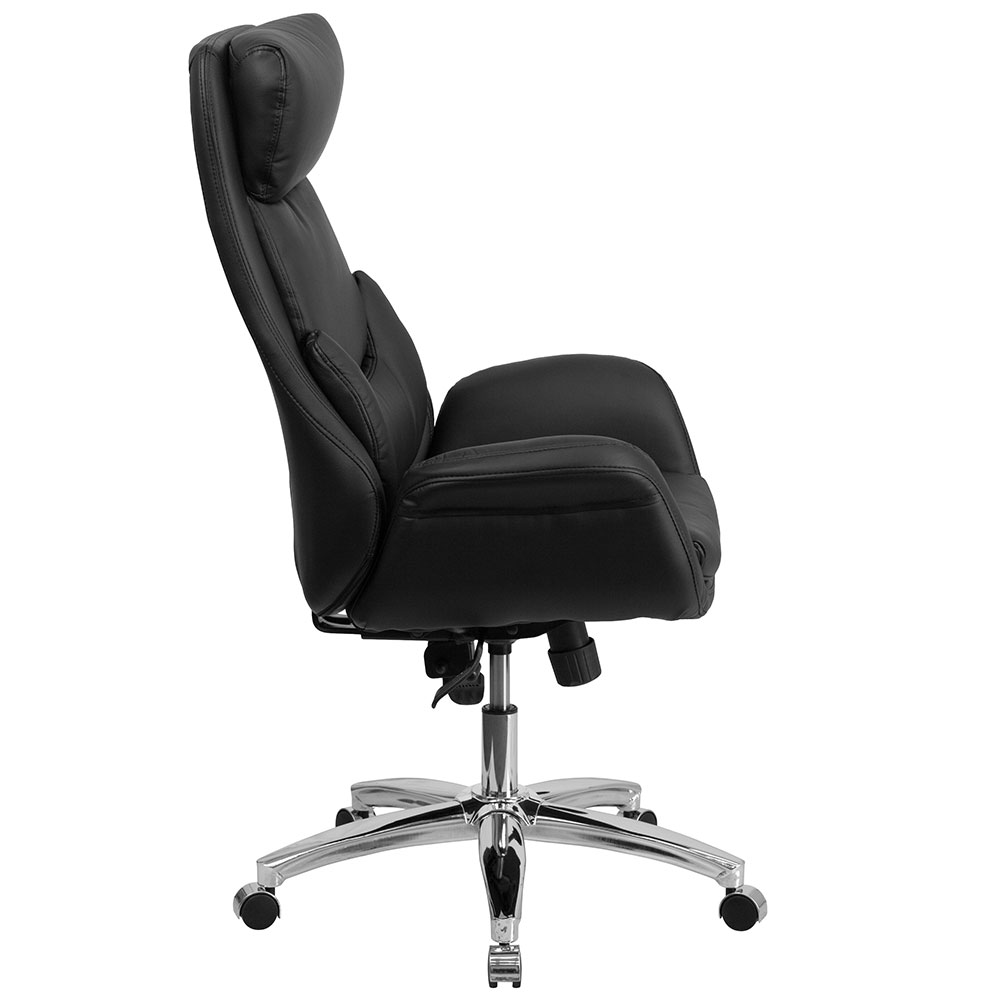 ergonomic home high back black leather executive swivel office chair