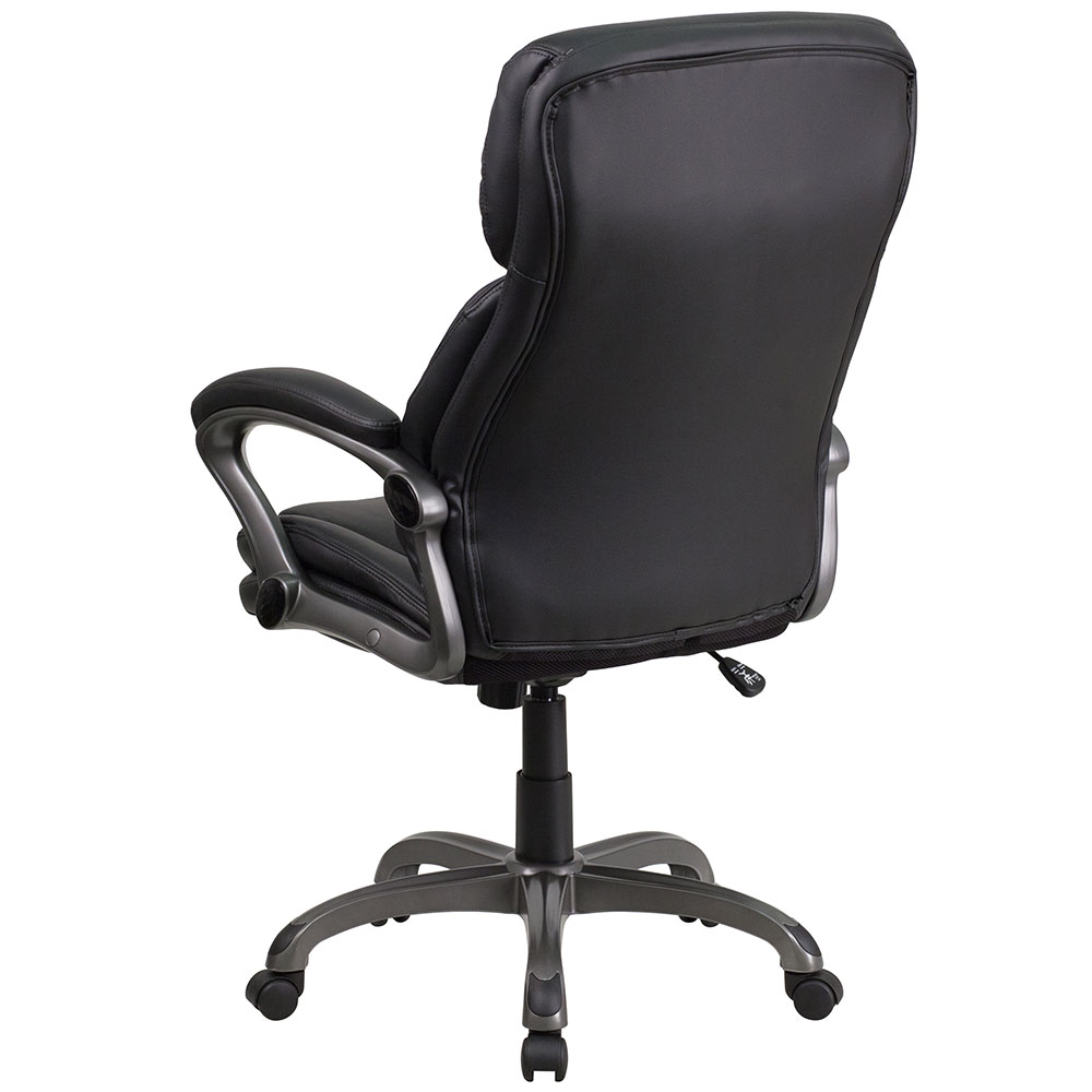 Ergonomic Home High Back Black Leather Executive Swivel