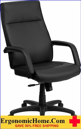 Ergonomic Home High Back Black Leather Executive Swivel Office Chair with Memory Foam Padding <b><font color=green>50% Off Read More Below...</font></b></font></b>