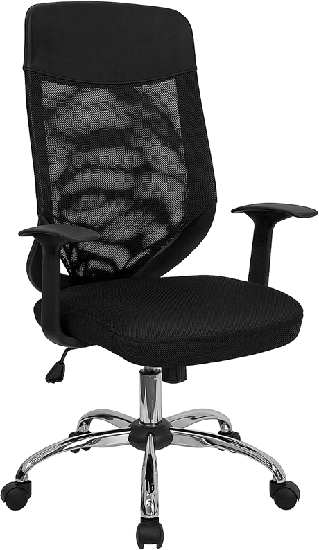 High Back Black Mesh Executive Swivel Office Chair with Mesh Padded Seat