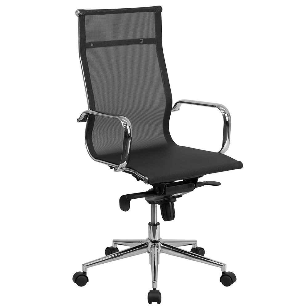 High Back Black Mesh Executive Swivel Office Chair with Synchro-Tilt Mechanism