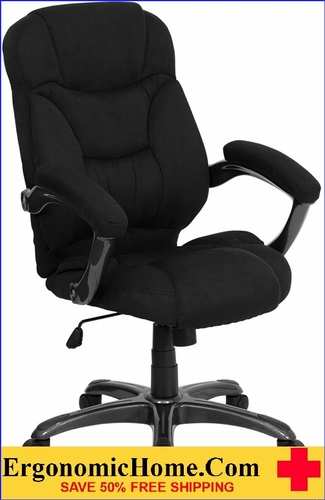 Ergonomic Home High Back Black Microfiber Contemporary Executive Swivel Office Chair <b><font color=green>50% Off Read More Below...</font></b></font></b>