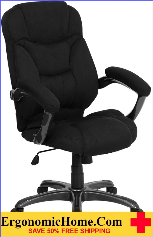 Ergonomic Home High Back Black Microfiber Contemporary Executive Swivel Office Chair <b><font color=green>50% Off Read More Below...</font></b>