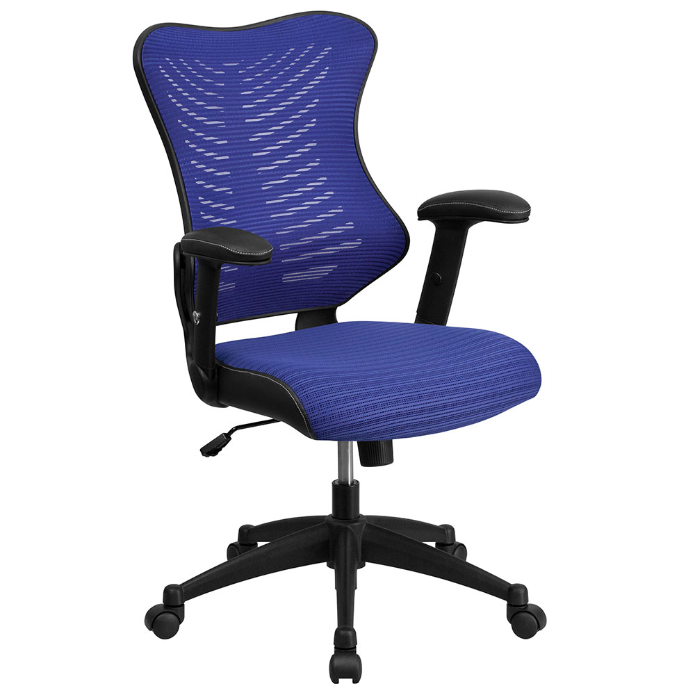 ERGONOMIC HOME High Back Blue Designer Mesh Executive Swivel Office Chair with Mesh Padded Seat EH-BL-ZP-806-BL-GG <b><font color=green>50% Off Read More Below...</font></b>