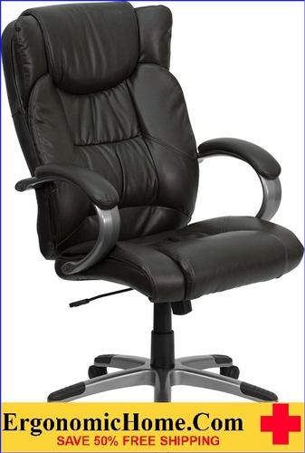 Ergonomic Home High Back Espresso Brown Leather Executive Swivel Office Chair <b><font color=green>50% Off Read More Below...</font></b></font></b>