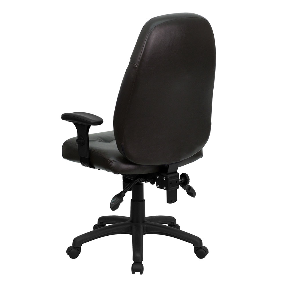 High Back Espresso Brown Leather Executive Swivel Office Chair : high back espresso brown leather executive swivel office chair 5 from www.ergonomichome.com size 1000 x 1000 jpeg 50kB