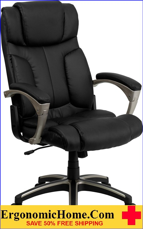 Ergonomic Home High Back Folding Black Leather Executive Swivel Office Chair <b><font color=green>50% Off Read More Below...</font></b>