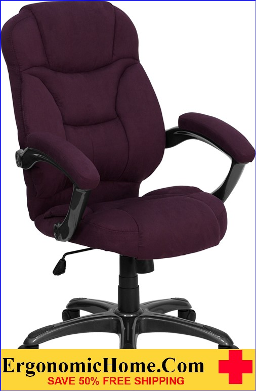 Ergonomic Home High Back Grape Microfiber Contemporary Executive Swivel Office Chair <b><font color=green>50% Off Read More Below...</font></b>