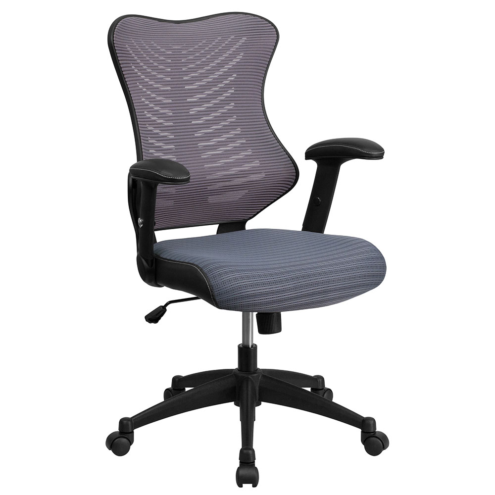 ERGONOMIC HOME High Back Gray Designer Mesh Executive Swivel Office Chair with Mesh Padded Seat EH-BL-ZP-806-GY-GG <b><font color=green>50% Off Read More Below...</font></b>