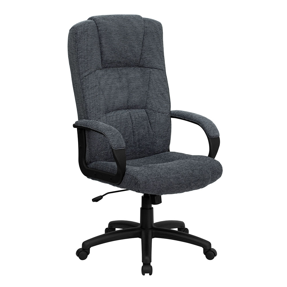 Ergonomic Home High Back Gray Fabric Executive Swivel