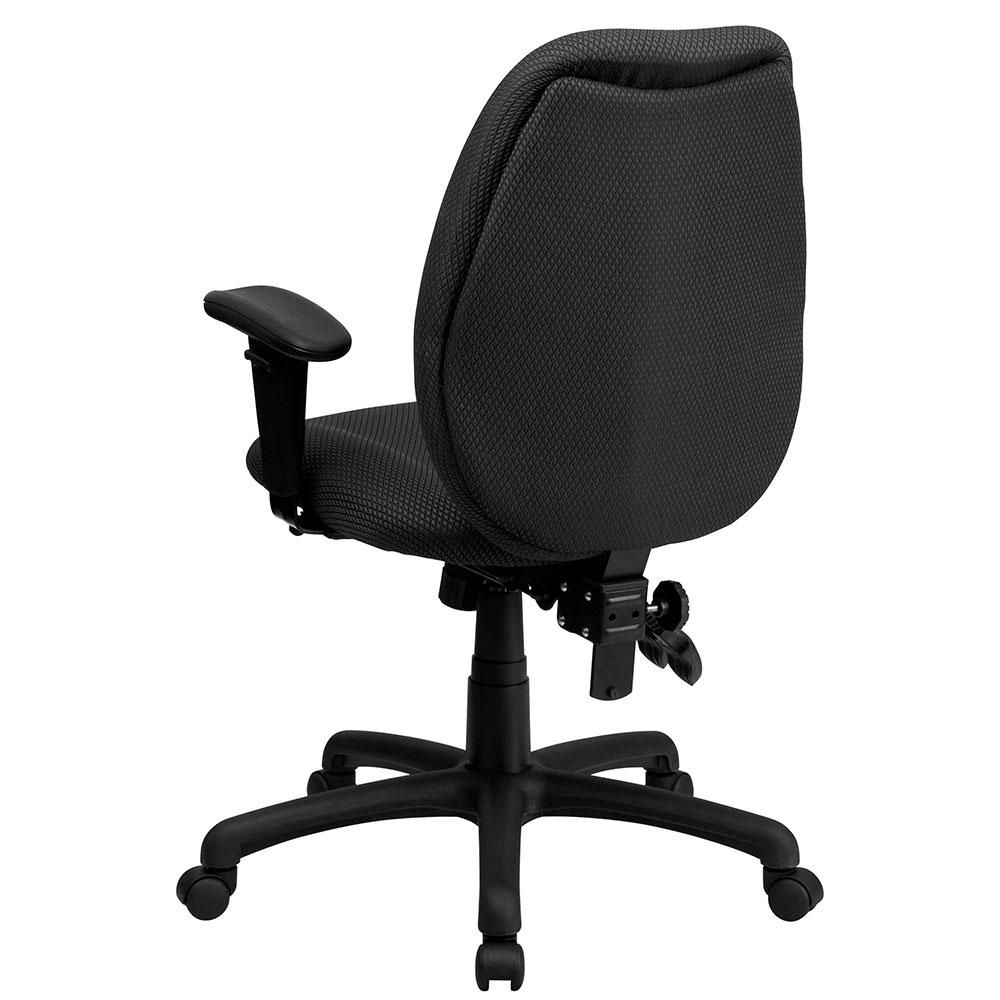 Office Chairs Adjustable Arms high back gray fabric multi-functional ergonomic executive swivel