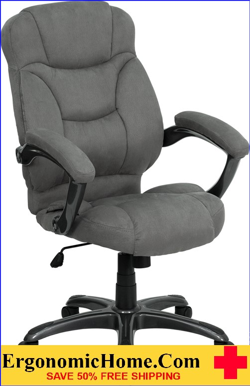 Ergonomic Home High Back Gray Microfiber Contemporary Executive Swivel Office Chair Rating