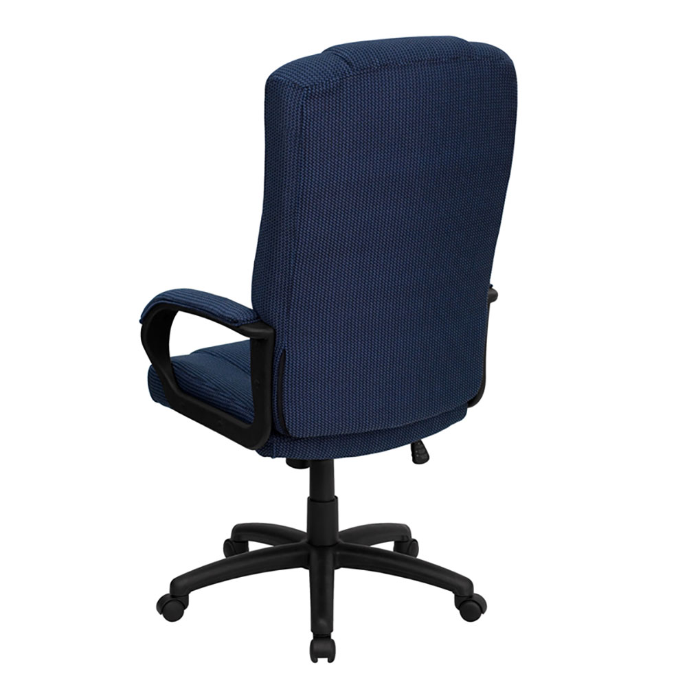 Ergonomic Home High Back Navy Blue Fabric Executive Swivel