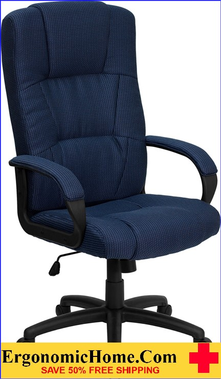 Ergonomic Home High Back Navy Blue Fabric Executive Swivel Office Chair <b><font color=green>50% Off Read More Below...</font></b>