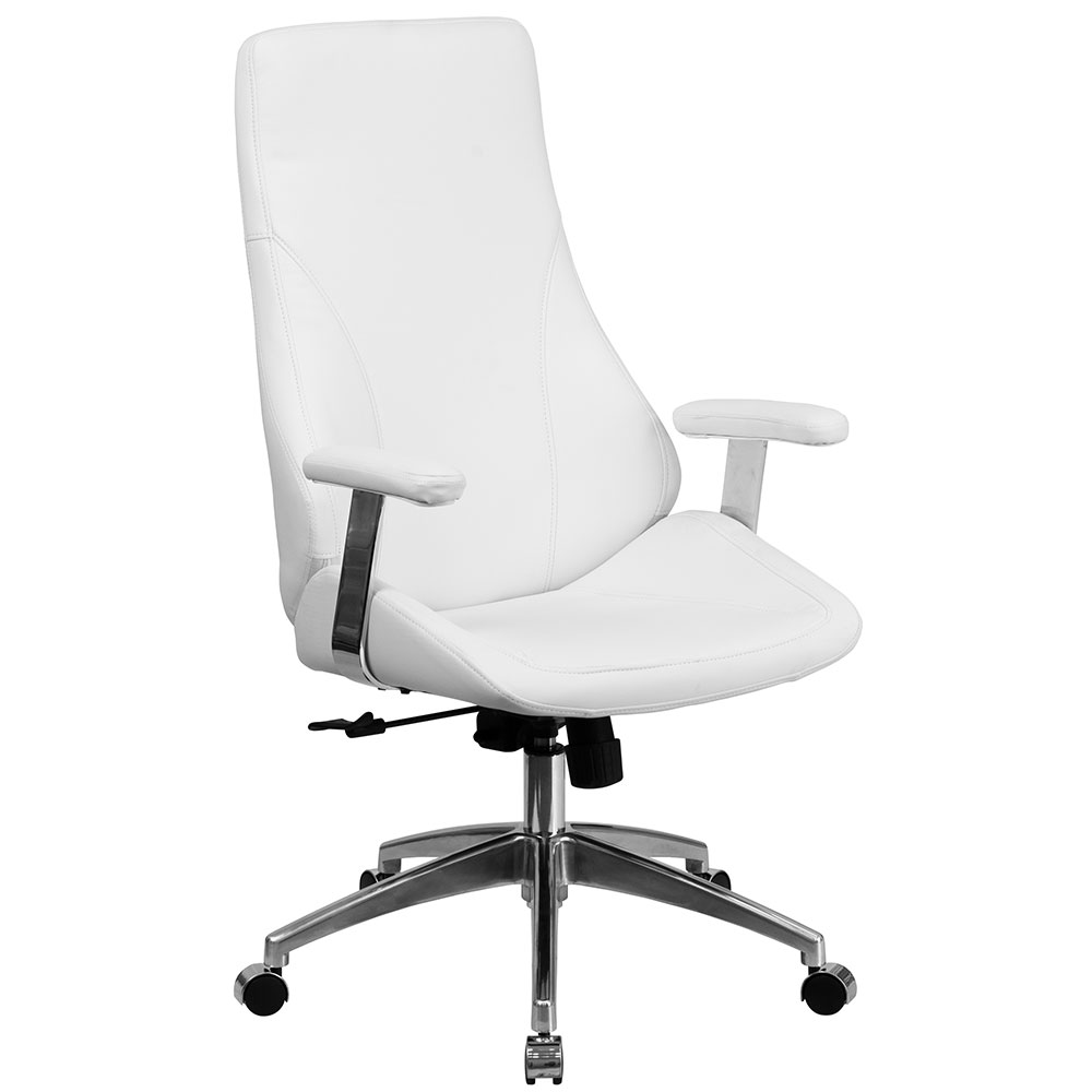 ergonomic home high back white leather executive swivel office chair color