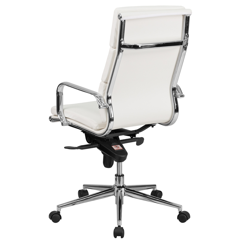 white leather executive chair. Ergonomic Home High Back White Leather Executive Swivel Office Chair With Synchro-Tilt Mechanism 50% Off Read More Below.