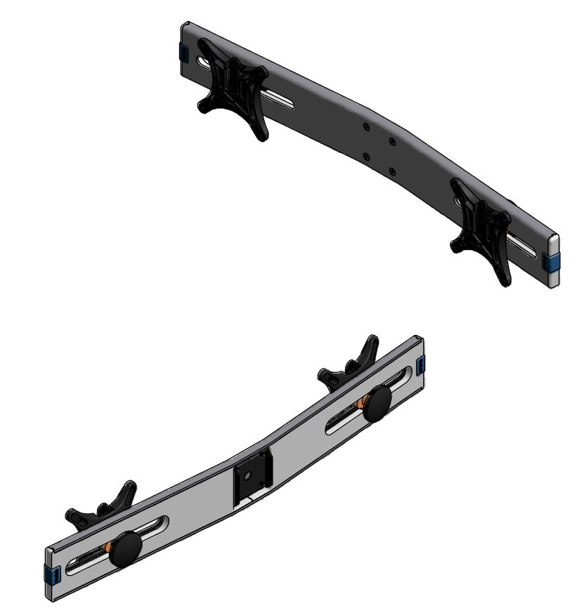 BRACKET ONLY: Allows two monitors to attach to the Innovative 7500-wing monitor arm.