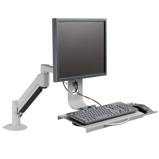 Lcd Articulating Arm W Keyboard Tray Innovative 9140