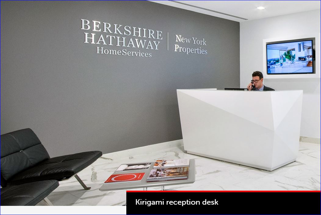 Kirigami Reception Desk - ADA Compliant. Each facet hand fitted. Basically it is the Diamond of reception desks. <font color=#c60>Read More Below</font>.