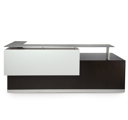 Kubist Reception Desk is Functional Abstract Art. The abstract form of Kubist features monochromatic color tones that create a calm, cool setting. Read More.