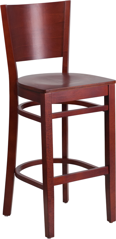ERGONOMIC HOME TOUGH ENOUGH Series Solid Back Mahogany Wooden Restaurant Barstool <b><font color=green>50% Off Read More Below...</font></b>