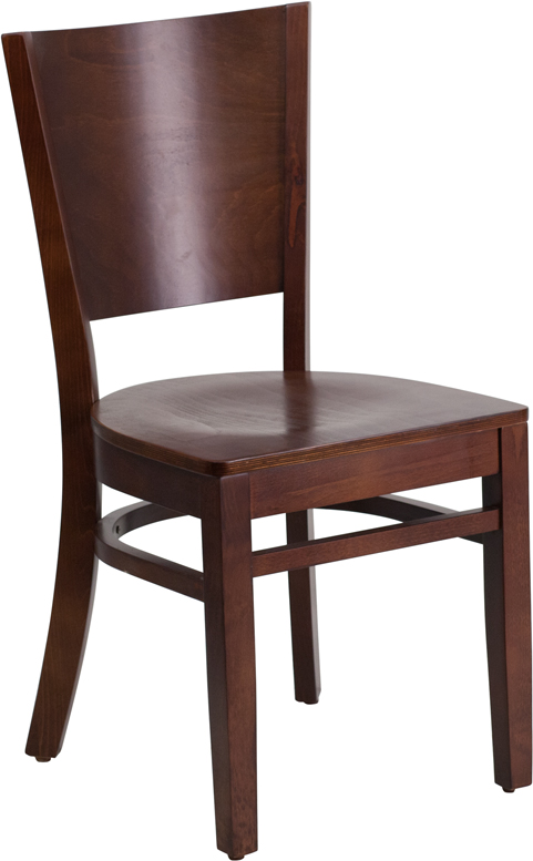 ERGONOMIC HOME TOUGH ENOUGH Series Solid Back Walnut Wooden Restaurant Chair <b><font color=green>50% Off Read More Below...</font></b>