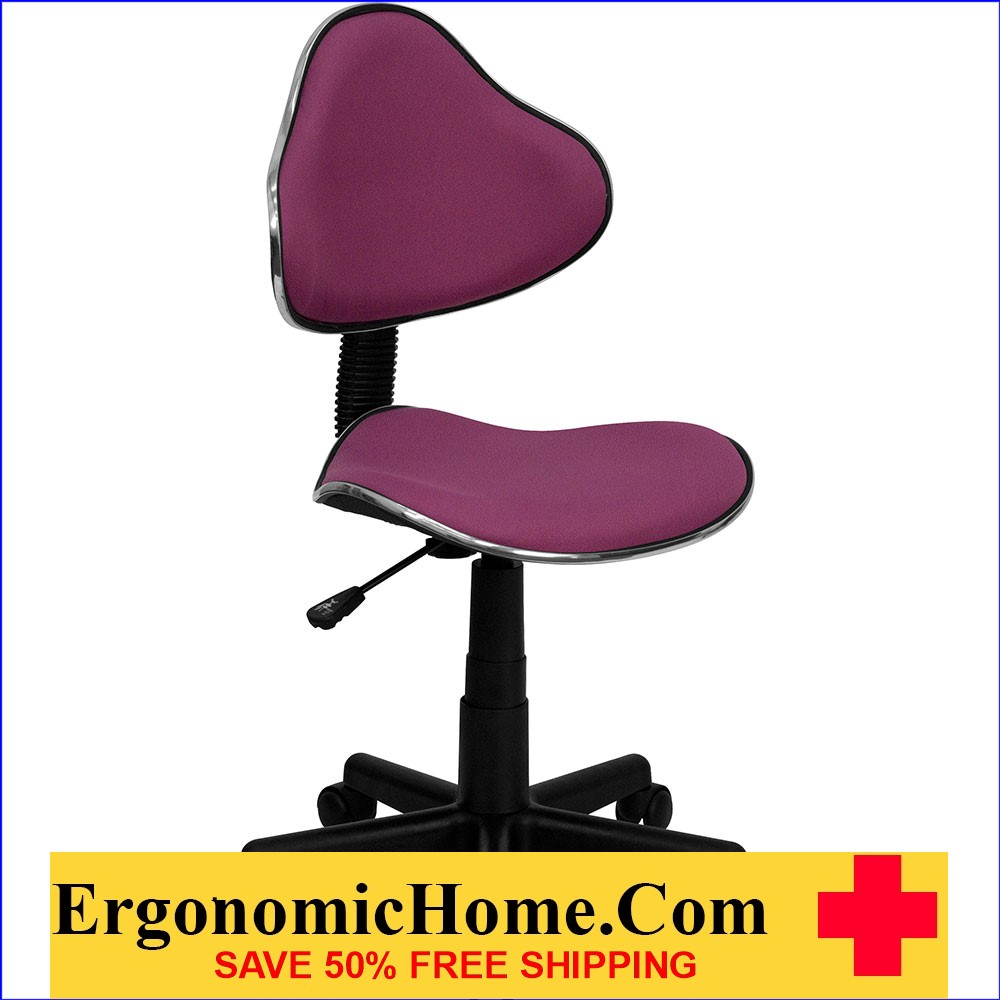 Ergonomic Home Lavender Fabric Ergonomic Swivel Task Chair EH-BT-699-LAVENDER-GG .