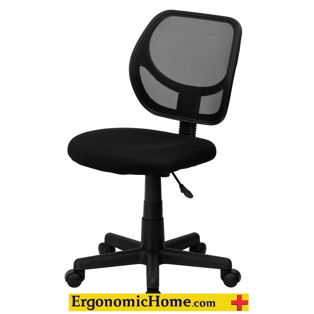 ERGONOMIC HOME Low Back Black Mesh Swivel Task Chair EH-WA-3074-BK-GG <b><font color=green>50% Off Read More Below...</font></b>