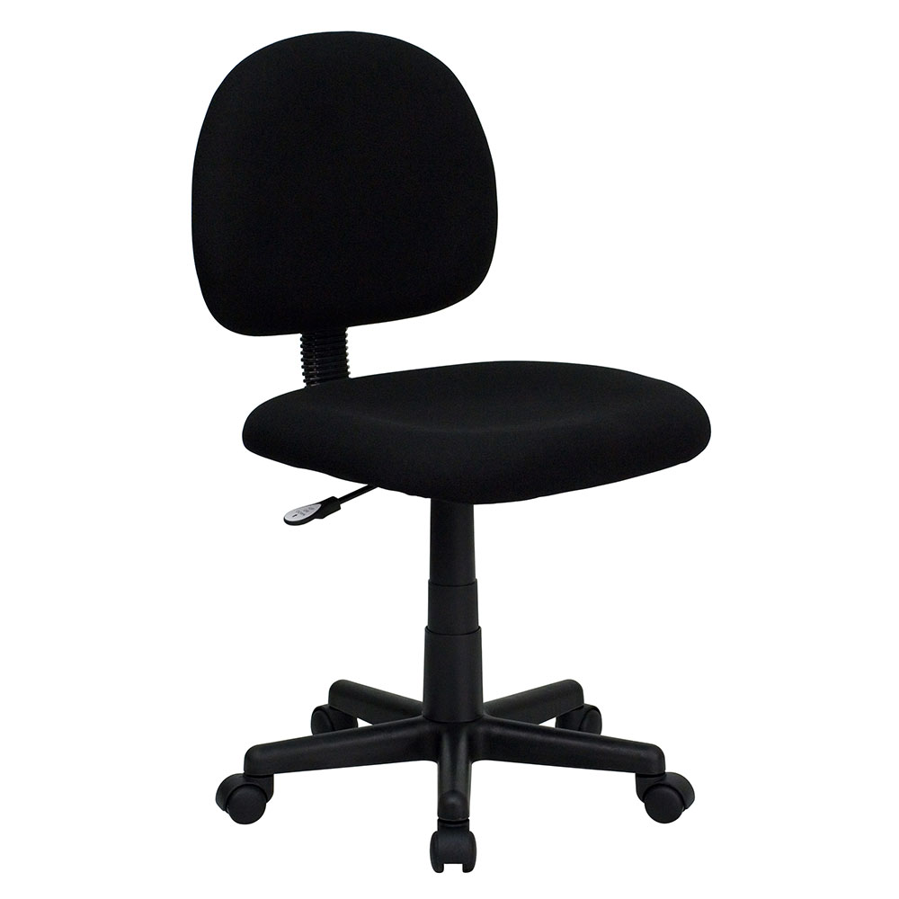 Ergonomic Home Low Back Black Fabric Swivel Task Chair <b><font color=green>50% Off Read More Below...</font></b>