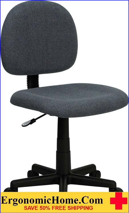 Ergonomic Home Low Back Gray Fabric Swivel Task Chair <b><font color=green>50% Off Read More Below...</font></b></font></b>