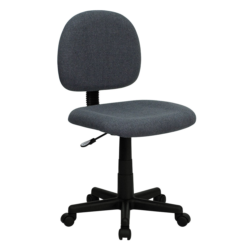 Ergonomic Home Low Back Gray Fabric Swivel Task Chair <b><font color=green>50% Off Read More Below...</font></b>