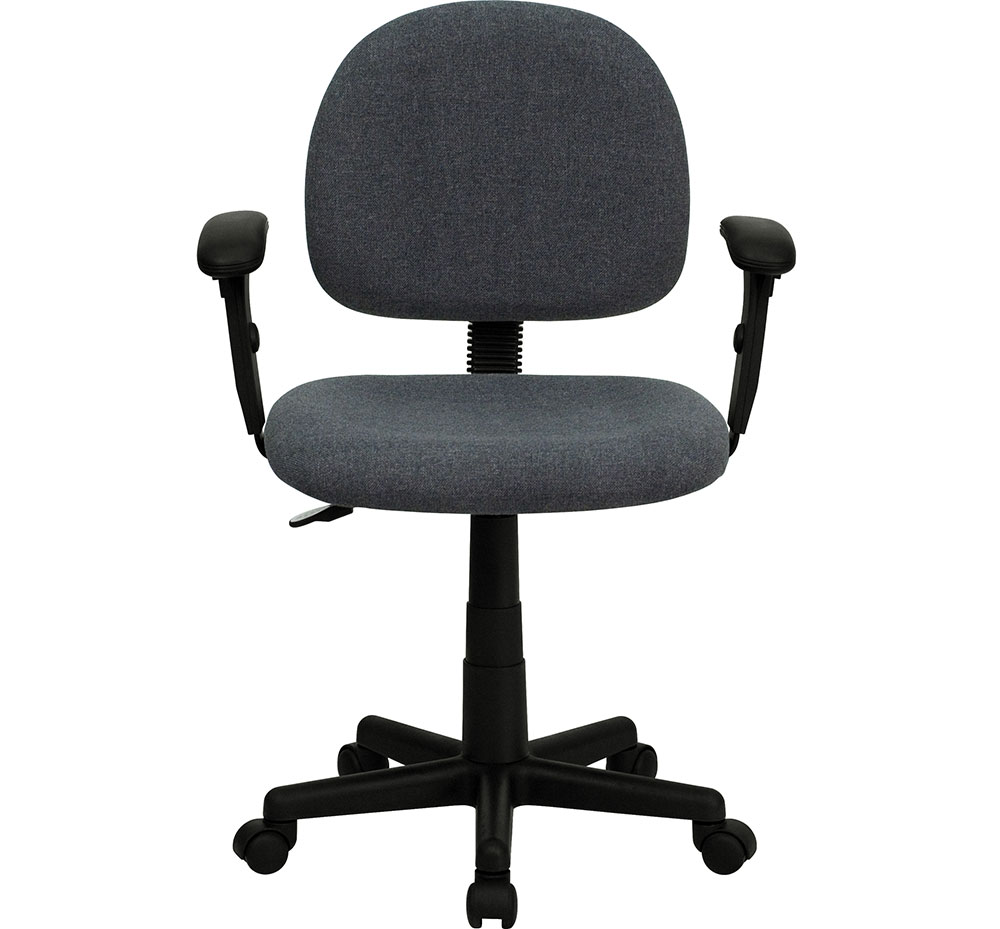 Ergonomic Home Low Back Ergonomic Gray Fabric Swivel Task